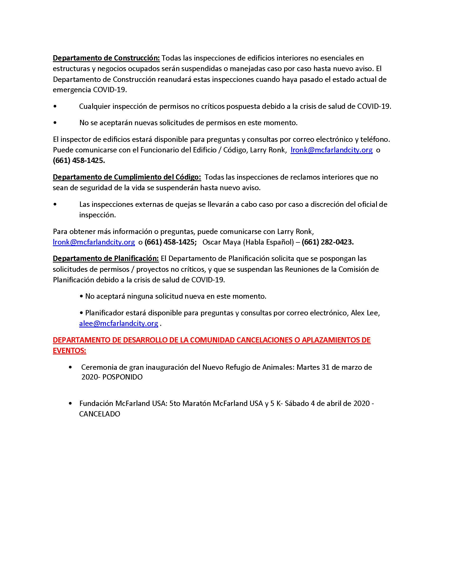 City of McFarland_CDD_COVID-19 Response_Spanish_Page_2
